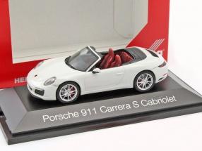 Porsche 911 (991) Carrera S Cabriolet weiß 1:43 Herpa