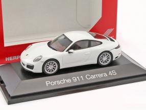 Porsche 911 (991) Carrera 4S weiß 1:43 Herpa