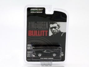 Dodge Charger aus dem Film Bullitt 1968 schwarz 1:64 Greenlight