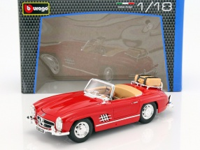 Mercedes-Benz 300 SL Touring Cabriolet year 1957 red 1:18 Bburago