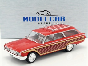 Ford Country Squire with Wood optics red 1:18 Model Car Group