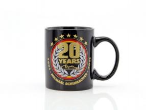 Michael Schumacher Tasse 20th Anniversary schwarz / gold