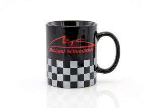 Michael Schumacher Tasse Chequered schwarz / silber / rot