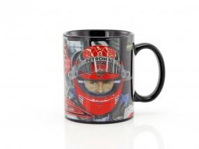 Michael Schumacher Tasse Helm schwarz / rot / gold