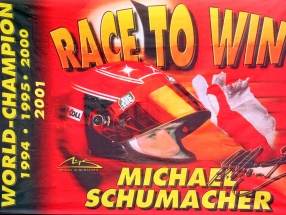 Michael Schumacher Fahne 4 times World Champion 200 x 140 cm