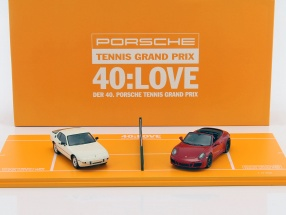 2-Car Anniversary set 40. Porsche Tennis Grand Prix 2017 red / white 1:43 Spark