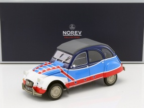 Citroen 2CV Basket year 1976 blue / white / red 1:18 Norev