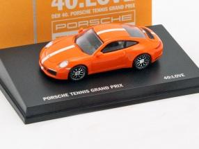 Porsche 911 (991 II) Carrera 4S PTGP 2017 orange / white 1:87 Spark
