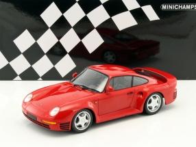 Porsche 959 Baujahr 1987 rot 1:18 Minichamps