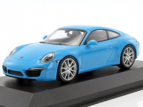 Porsche 911 (991) Carrera S year 2012 blue 1:43 Minichamps