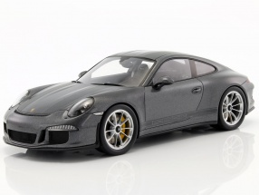 Porsche 911 R (991) Gray metallic with showcase 1:18 Spark