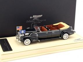 Cadillac Series 90 V16 Presidential Limousine Queen Mary Baujahr 1938 schwarz 1:43 TrueScale