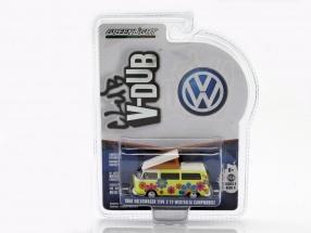 Volkswagen VW Type 2 Westfalia Campmobile Hippie Van Baujahr 1968 gelb 1:64 Greenlight
