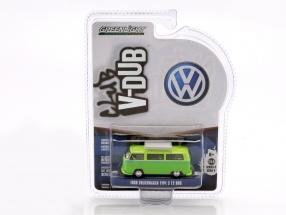 Volkswagen VW Type 2 T2 Bus Baujahr 1968 grün 1:64 Greenlight