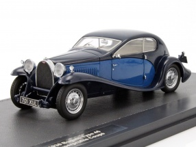 Bugatti Type 46 Superprofile Coupe year 1930 blue / dark blue 1:43 Matrix
