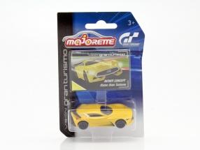 Infiniti Concept Vision Gran Turismo gelb 1:64 Majorette