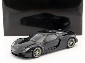 Porsche 918 Spyder Baujahr 2013 schwarz metallic 1:18 AUTOart
