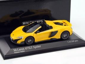 McLaren 675LT Spider Baujahr 2016 gelb 1:43 Minichamps