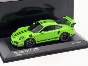 Porsche 911 (991) GT3 RS Baujahr 2014 grün 1:43 Minichamps