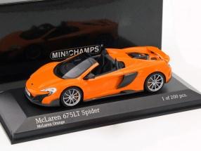 McLaren 675LT Spider Baujahr 2016 orange 1:43 Minichamps