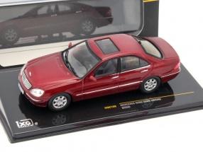Mercedes-Benz S500 (W220) year 2000 dark red metallic 1:43 Ixo