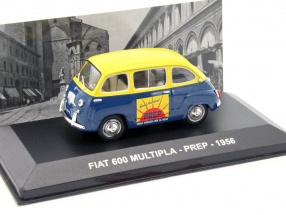 Fiat 600 Multipla Prep Baujahr 1956 blau / gelb 1:43 Altaya
