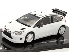 Citroen C4 WRC Rally Spec Plain Body Version weiß 1:43 Ixo