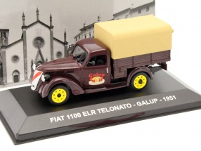 Fiat 1100 ELR Telonato Galup Baujahr 1951 braun 1:43 Altaya