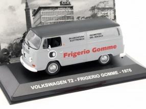Volkswagen VW T2 Bus Frigerio Gomme Baujahr 1976 grau / schwarz 1:43 Altaya