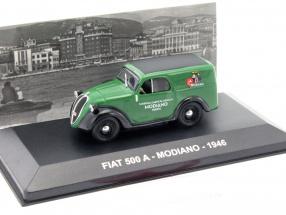 Fiat 500 A Modiano Baujahr 1946 grün / schwarz 1:43 Altaya