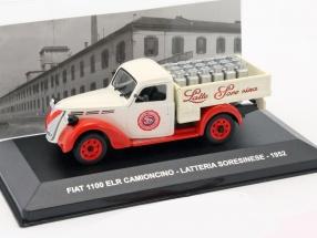 Fiat 1100 ELR Camioncino Latteria Soresinese Baujahr 1952 creme / rot 1:43 Altaya