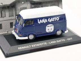 Renault Estafette Lana Gatto Baujahr 1977 blau / weiß 1:43 Altaya