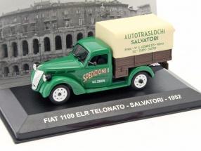 Fiat 1100 ELR Telonato Salvatori Baujahr 1952 grün / braun / beige 1:43 Altaya