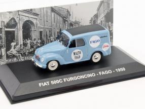 Fiat 500C Furgoncino Fago Baujahr 1950 hellblau 1:43 Altaya