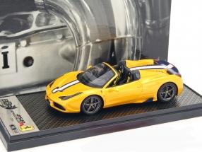 Ferrari 458 Speciale A Spider Open Top Baujahr 2014 gelb metallic 1:43 BBR