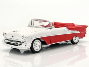 Oldsmobile Super 88 Convertible Year 1955 red / white 1:18 Welly