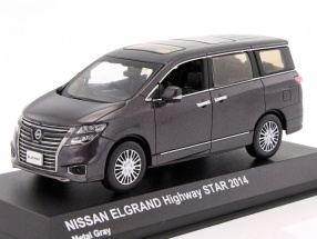 Nissan Elgrand Highway Star Year 2014 Grey metallic 1:43 Kyosho