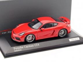 Porsche Cayman GT4 indisch rot 1:43 Minichamps