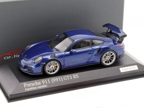 Porsche 911 (991) GT3 RS aquablau metallic 1:43 Minichamps