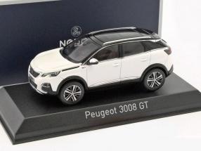 Peugeot 3008 GT Baujahr 2016 weiß / schwarz 1:43 Norev