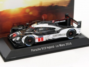 Porsche 919 Hybrid #1 24h LeMans 2016 Dirty version 1:43 Spark