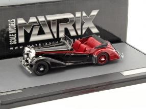 Alvis 4.3 Litre Vanden Plas Tourer Convertible open Top Baujahr 1938 schwarz / rot 1:43 Matrix