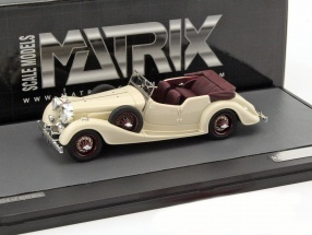 Alvis 4.3 Litre Cross & Ellis Convertible open Top year 1938 cream white 1:43 Matrix