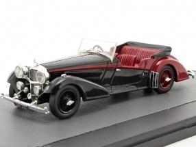 Alvis 4.3 Litre Vanden Plas Tourer Convertible open Top year 1938 black / red 1:43 Matrix