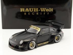 Porsche 911 (993) RWB matt schwarz 1:18 AUTOart