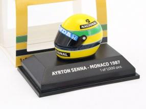 Ayrton Senna Replika Helm Winner GP Monaco Formel 1 1987 1:8 Minichamps