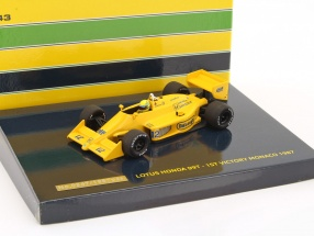 Ayrton Senna Lotus Honda 99T #12 1st Victory GP Monaco Formel 1 1987 1:43 Minichamps