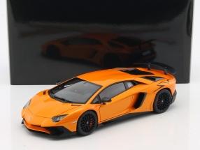 Lamborghini Aventador LP750-4 SV year 2015 orange metallic 1:18 AUTOart