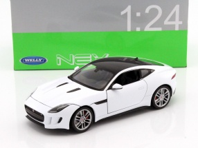 Jaguar F-Type Coupe year 2015 white 1:24 Welly