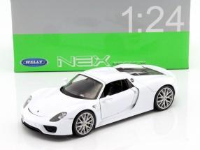 Porsche 918 Spyder Baujahr 2015 weiß 1:24 Welly